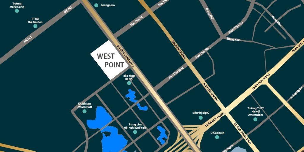 Vị trí Vinhomes West Point Đỗ Đức Dục